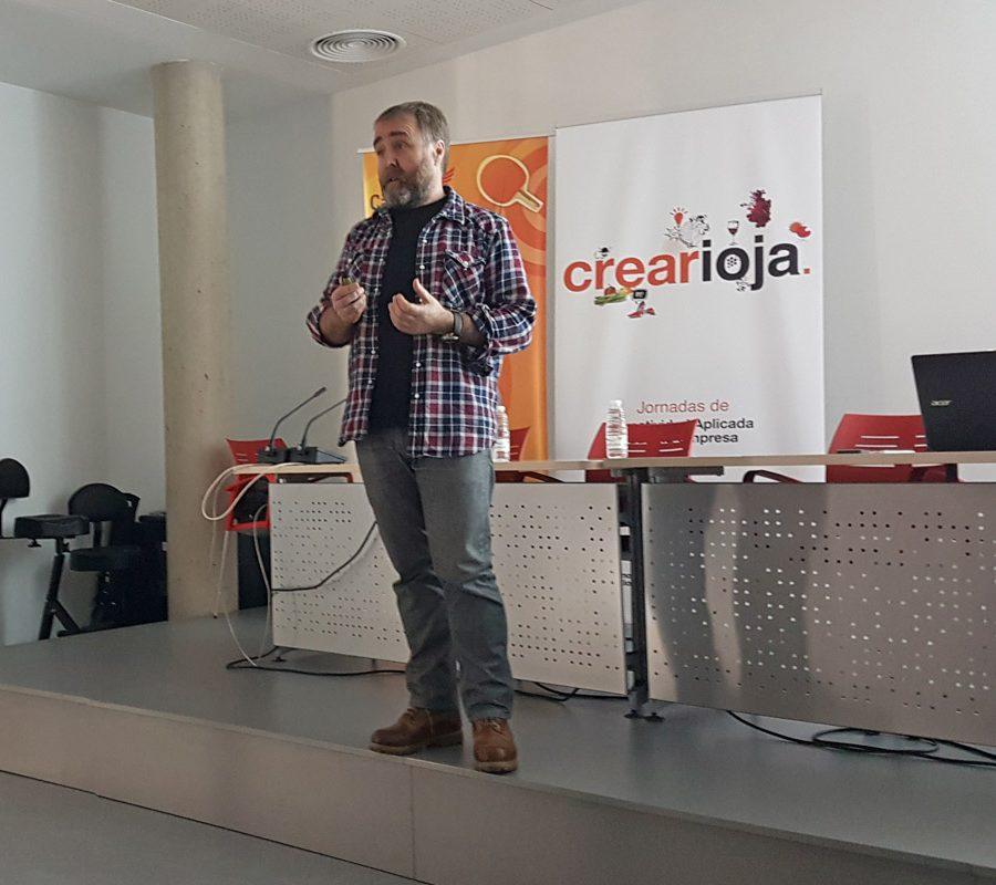 El Creativo Óscar Bilbao, En La Jornada De Crearioja En Calahorra