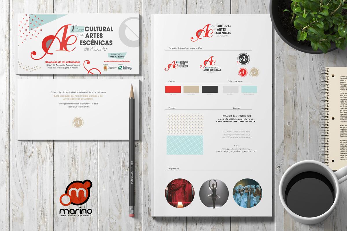 Marino Publicidad Crea La Imagen Del I Ciclo Cultural De Artes Escénicas De Alberite