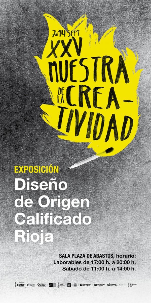 Cartel exposicion Diseño de Origen Calificado Rioja