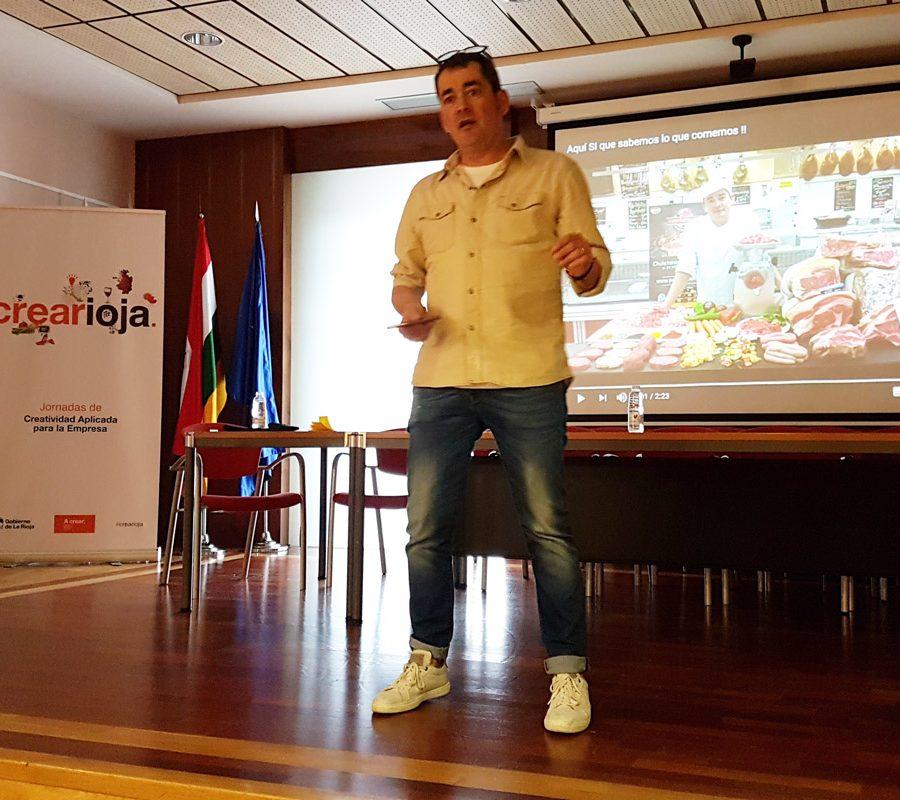 Pepe Sáenz (Pepe Chuletón), En La Jornada De Crearioja En Alfaro, Organizada Por A Crear