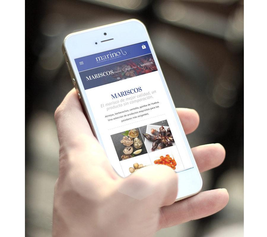 Marino Publicidad, Web De Pescados Marino