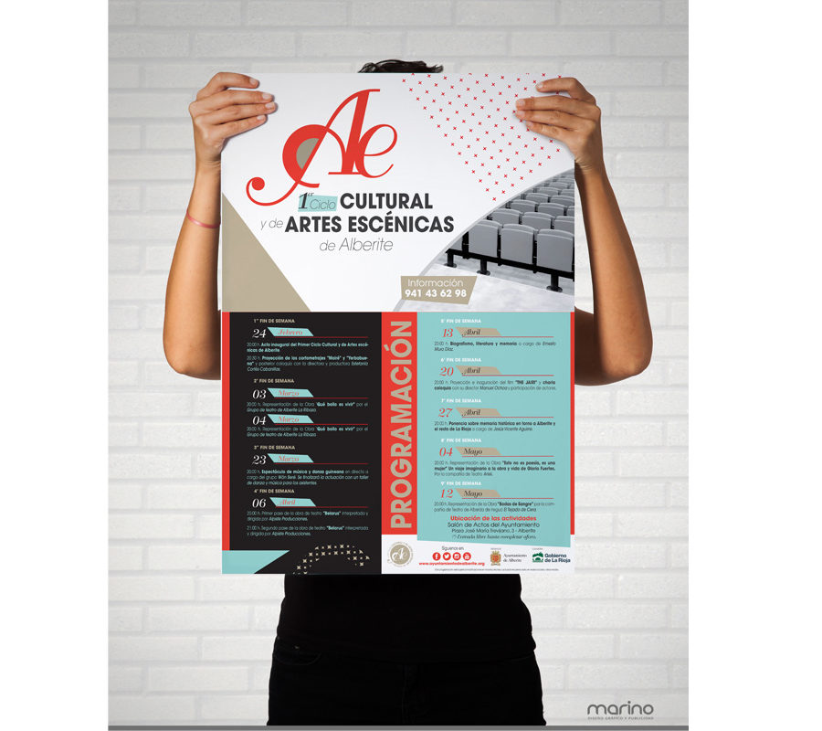 Marino Publicidad crea la imagen del Primer Ciclo de Artes Escénicas de Alberite