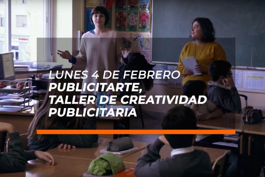 Taller de creatividad publicitaria 'Publicitarte', en el Colegio La Enseñanza de Logroño