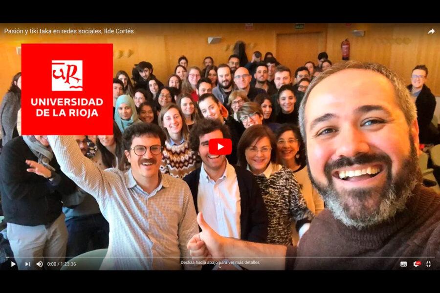 Video de la conferencia de Ilde Cortés en la UR