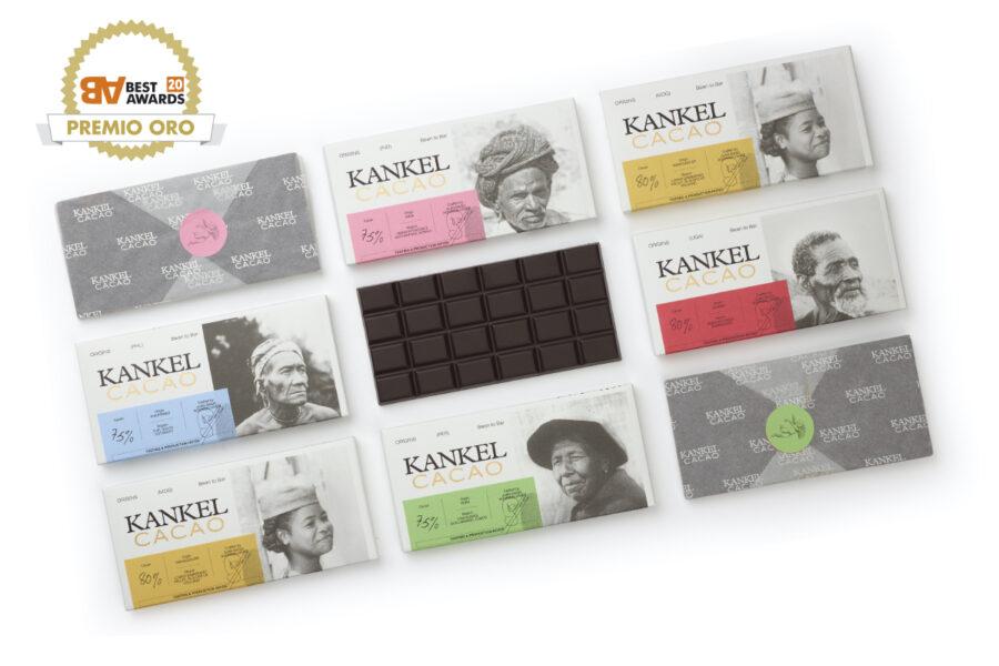 TSMGO gana un Oro por el packaging de Kankel Cacao