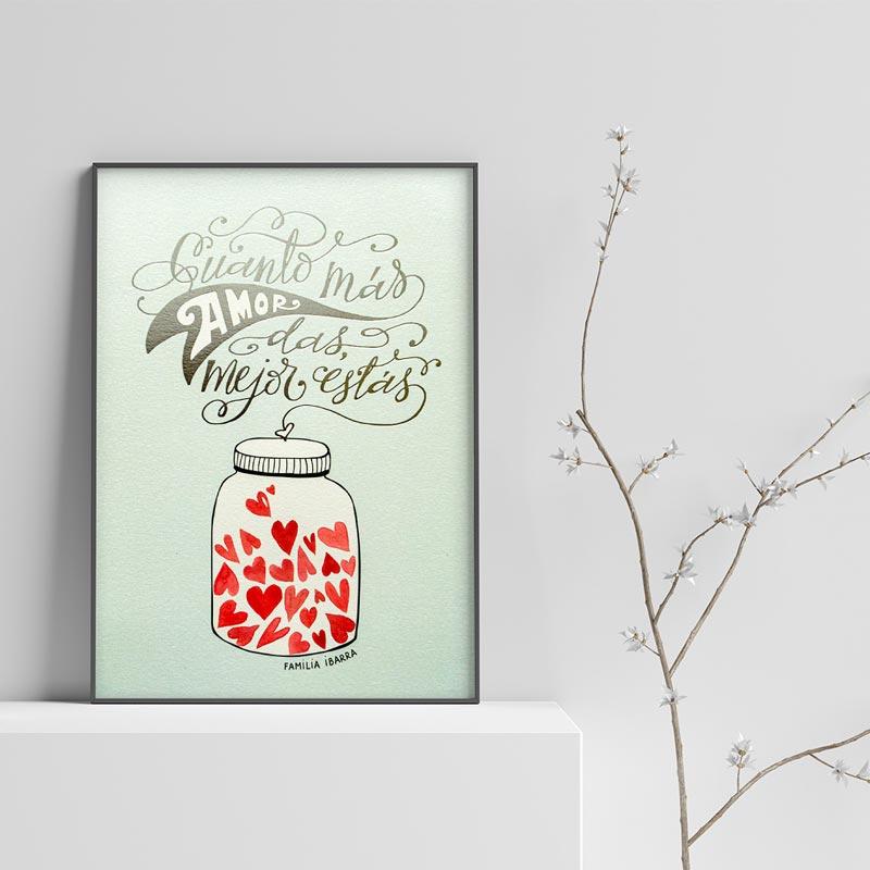 Poster de la obra 'Cuanto más amor das, mejor estás