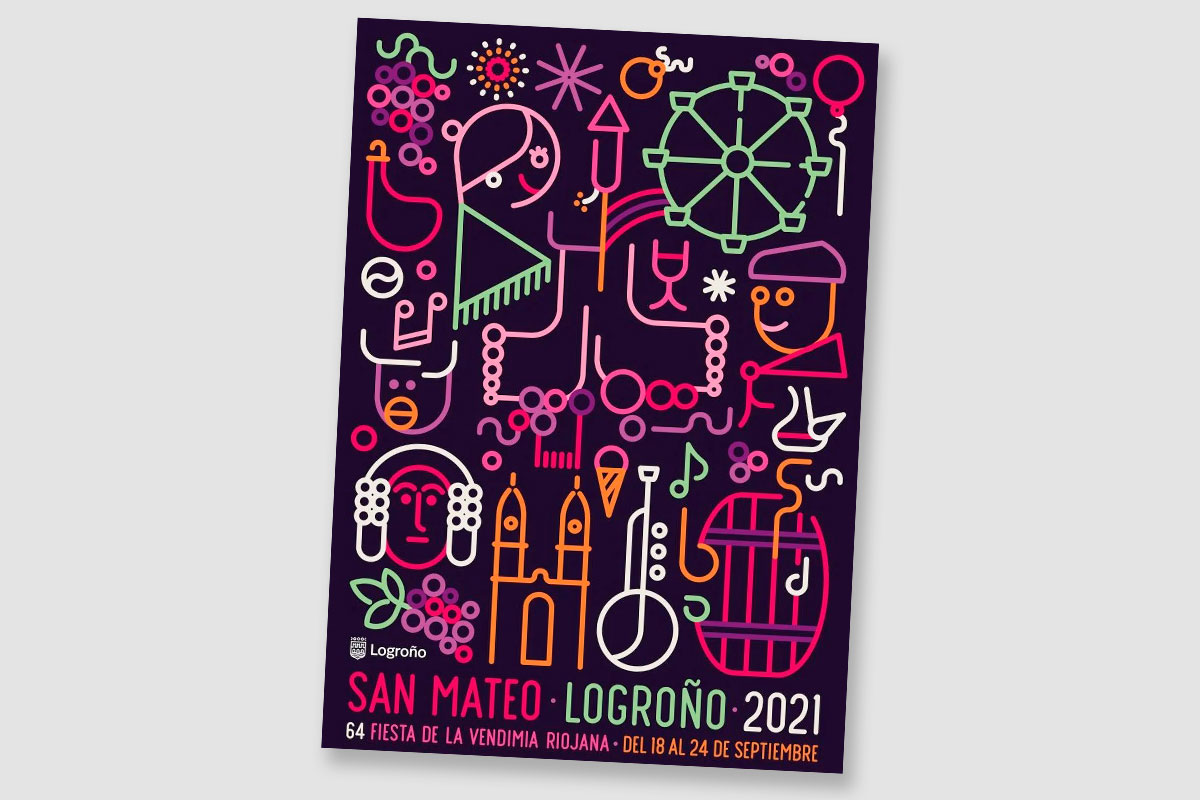 Cartel De Las Fiestas De San Mateo 2021 En Logroño
